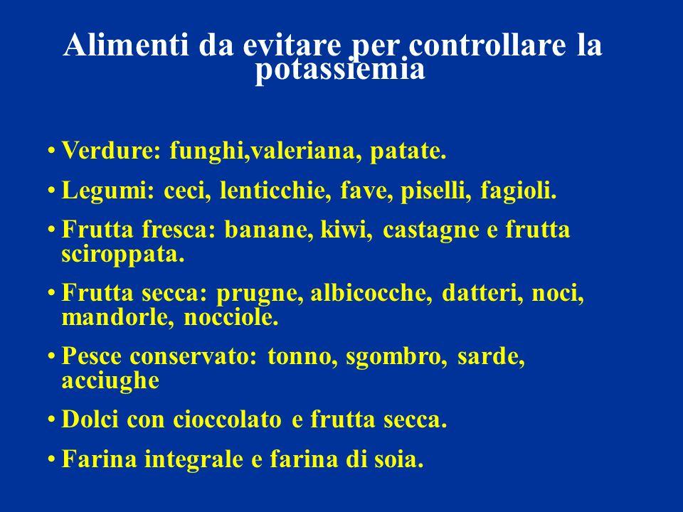 Alimenti da evitare per controllare la potassiemia