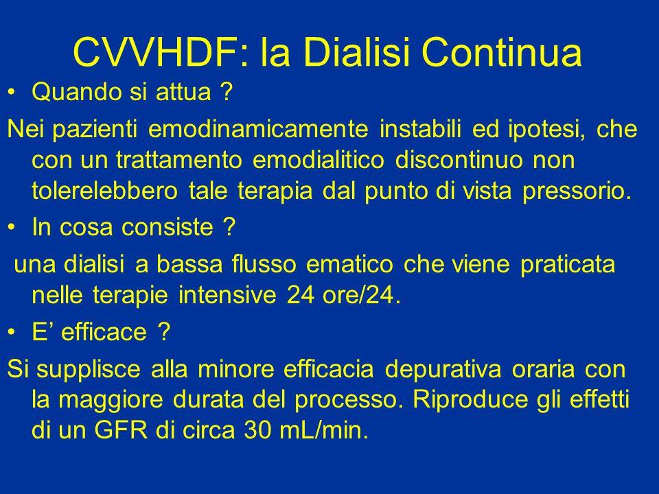 CVVHDF: la Dialisi Continua