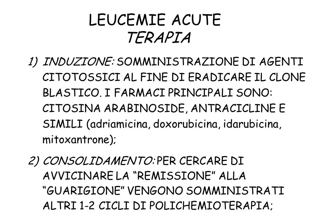 LEUCEMIE ACUTE TERAPIA