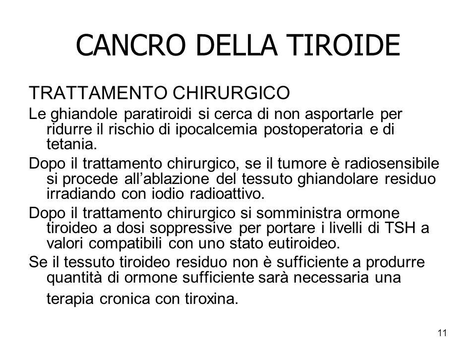 CANCRO DELLA TIROIDE TRATTAMENTO CHIRURGICO