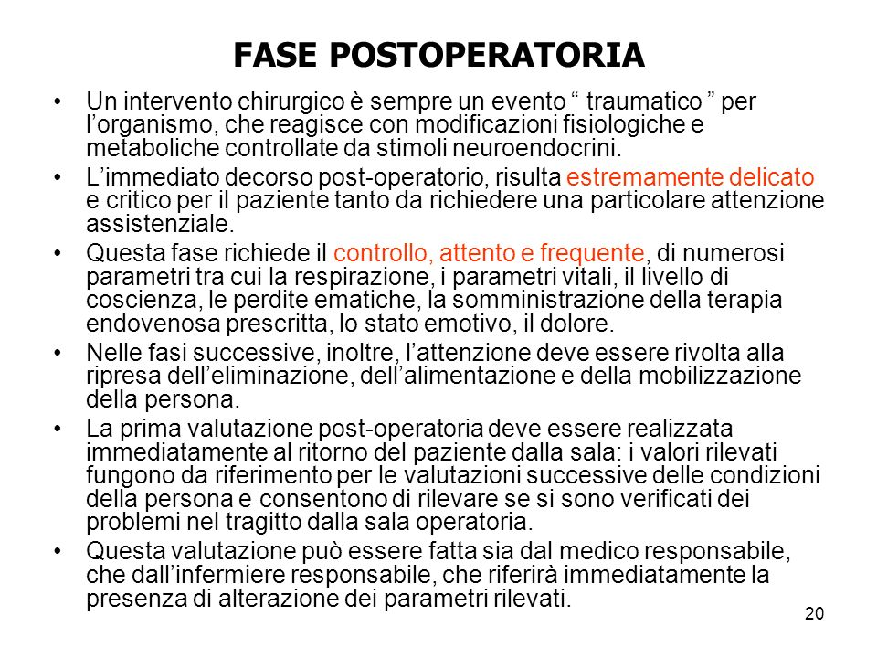 FASE POSTOPERATORIA