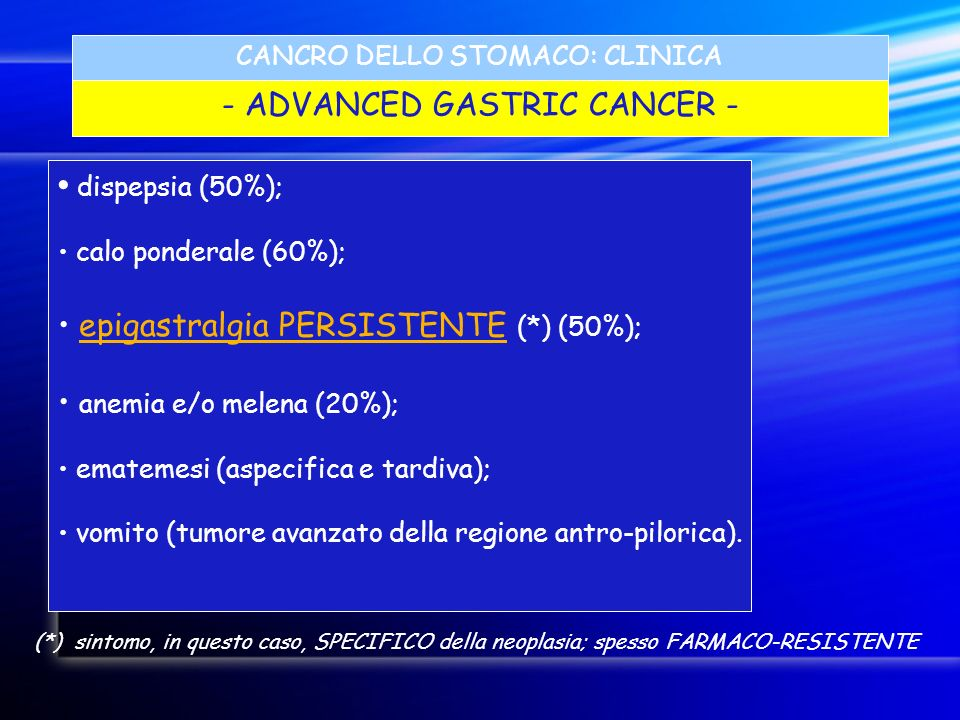 - ADVANCED GASTRIC CANCER -