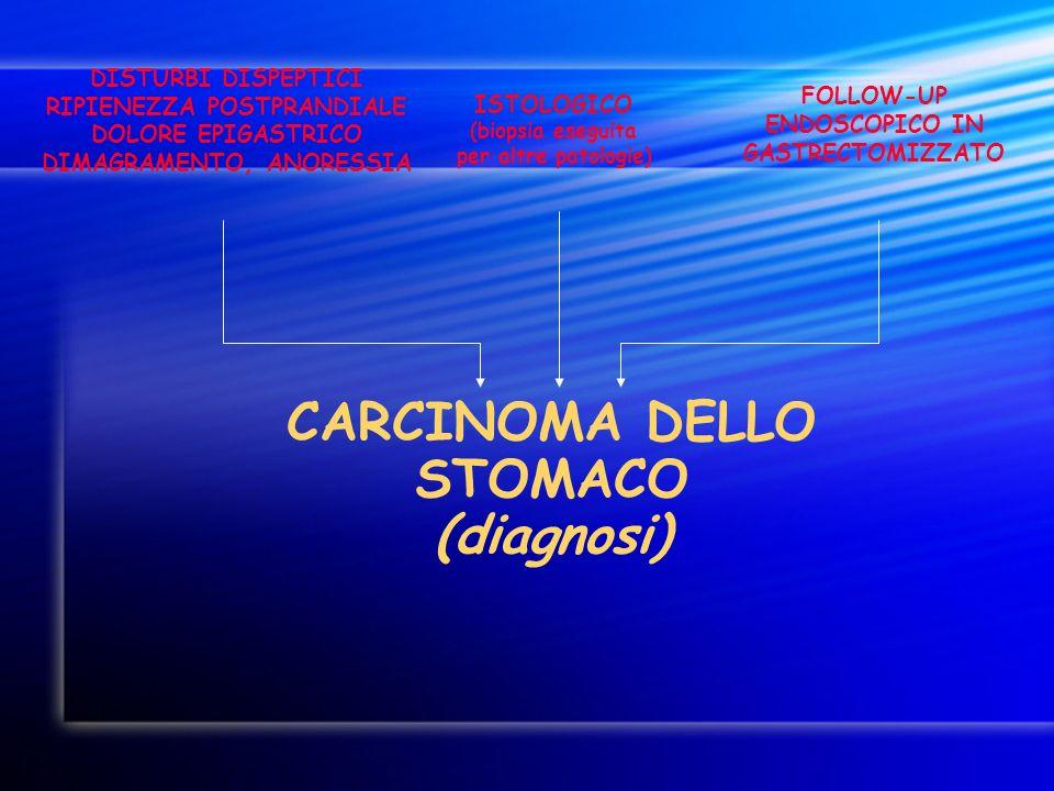 CARCINOMA DELLO STOMACO (diagnosi)