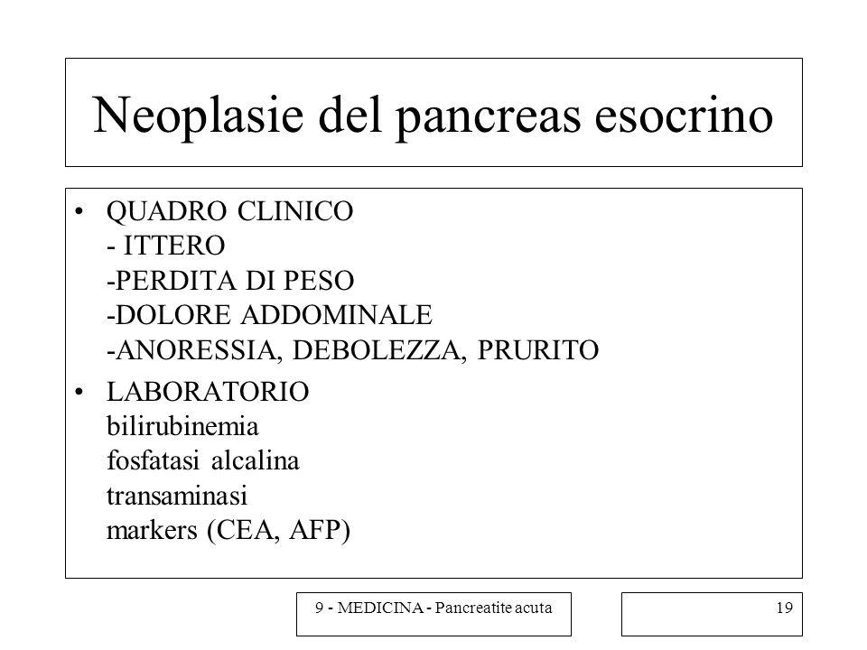 Neoplasie del pancreas esocrino