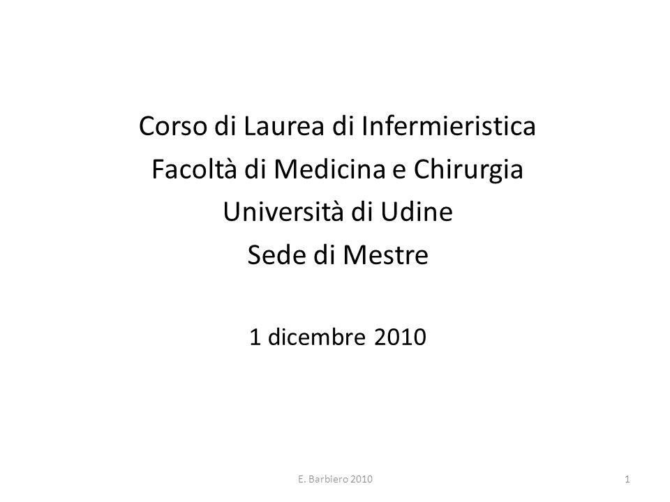 Corso di Laurea di Infermieristica Facoltà di Medicina e Chirurgia