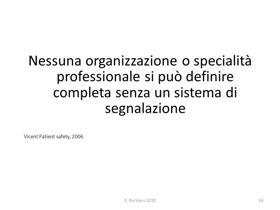 Nessuna organizzazione o specialità professionale si può definire completa senza un sistema di segnalazione