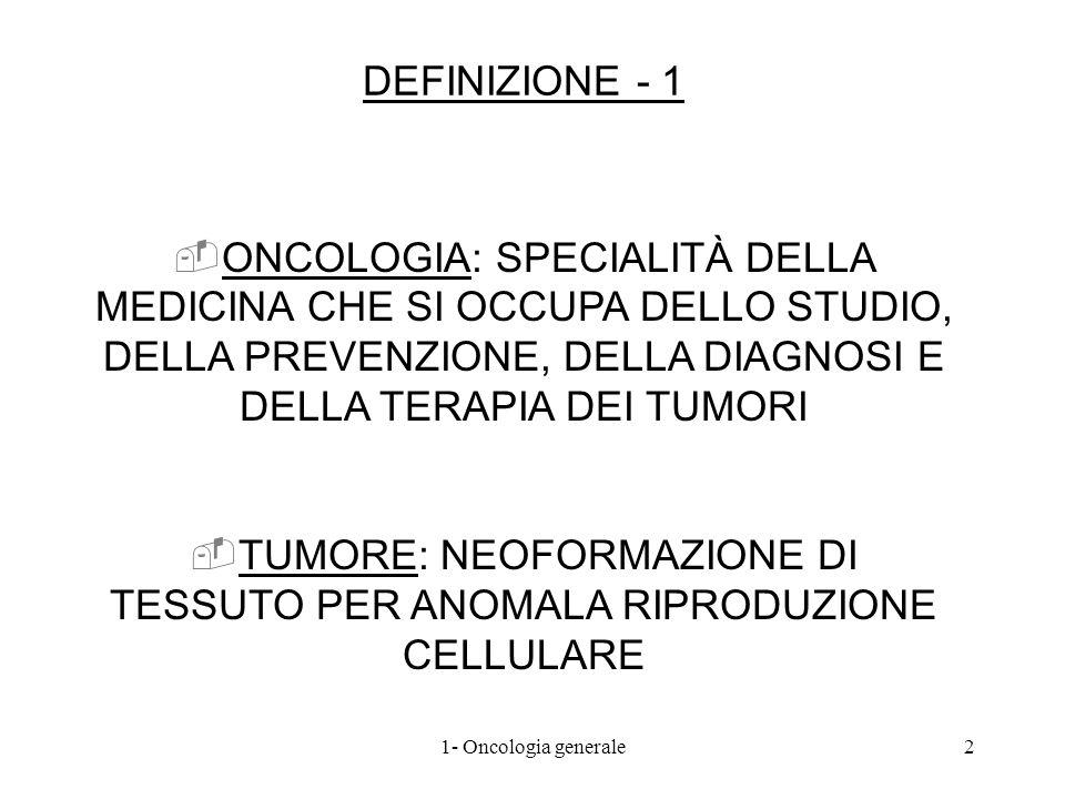 TUMORE: NEOFORMAZIONE DI TESSUTO PER ANOMALA RIPRODUZIONE CELLULARE