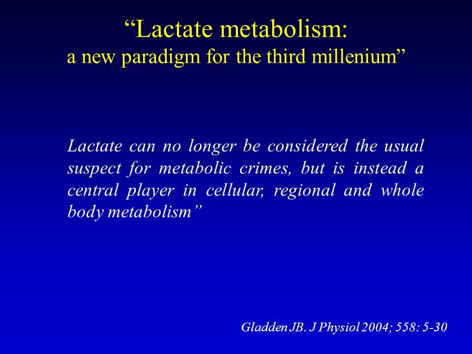 Lactate metabolism: a new paradigm for the third millenium