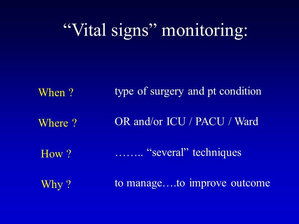 Vital signs monitoring: