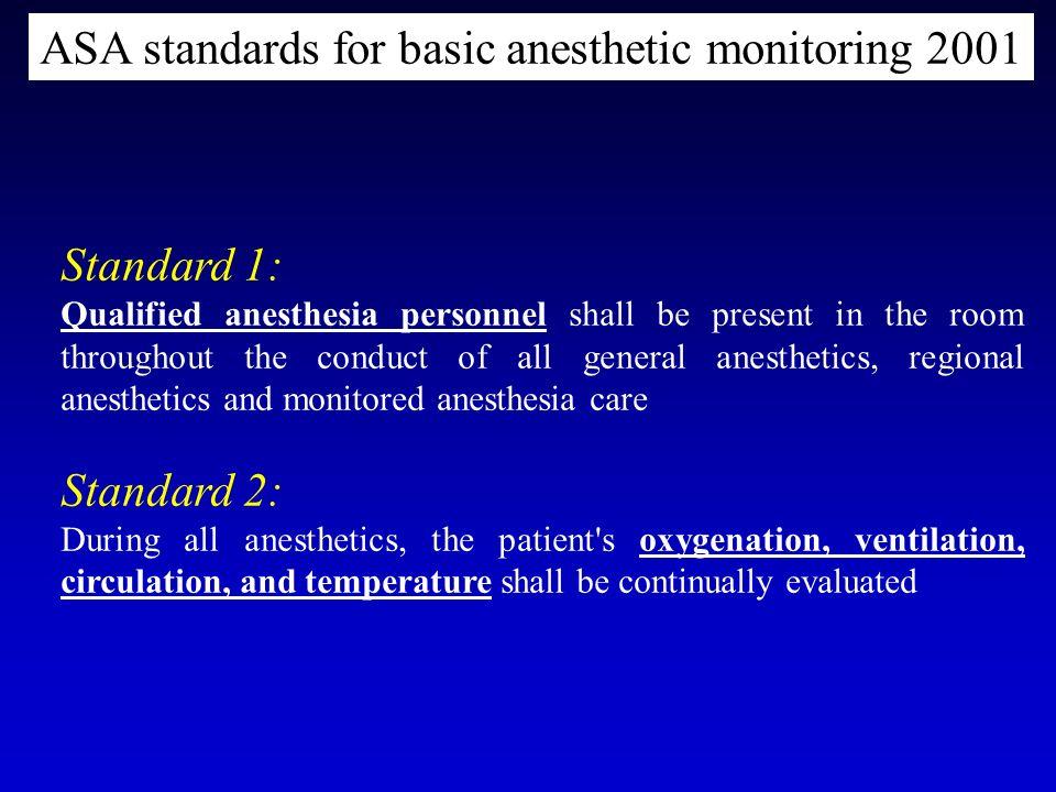 ASA standards for basic anesthetic monitoring 2001