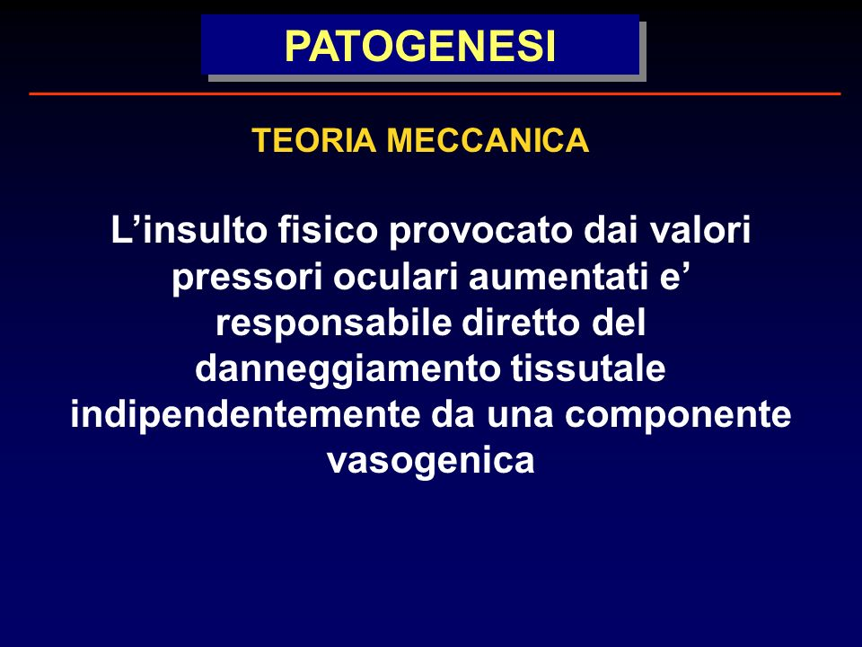 PATOGENESI TEORIA MECCANICA.