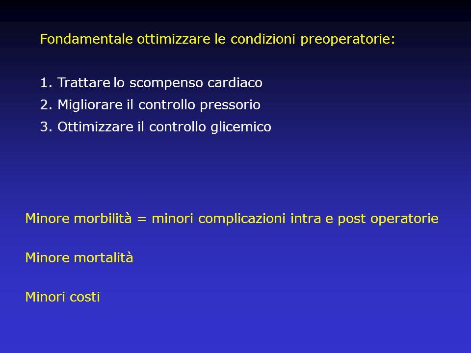 Fondamentale ottimizzare le condizioni preoperatorie: