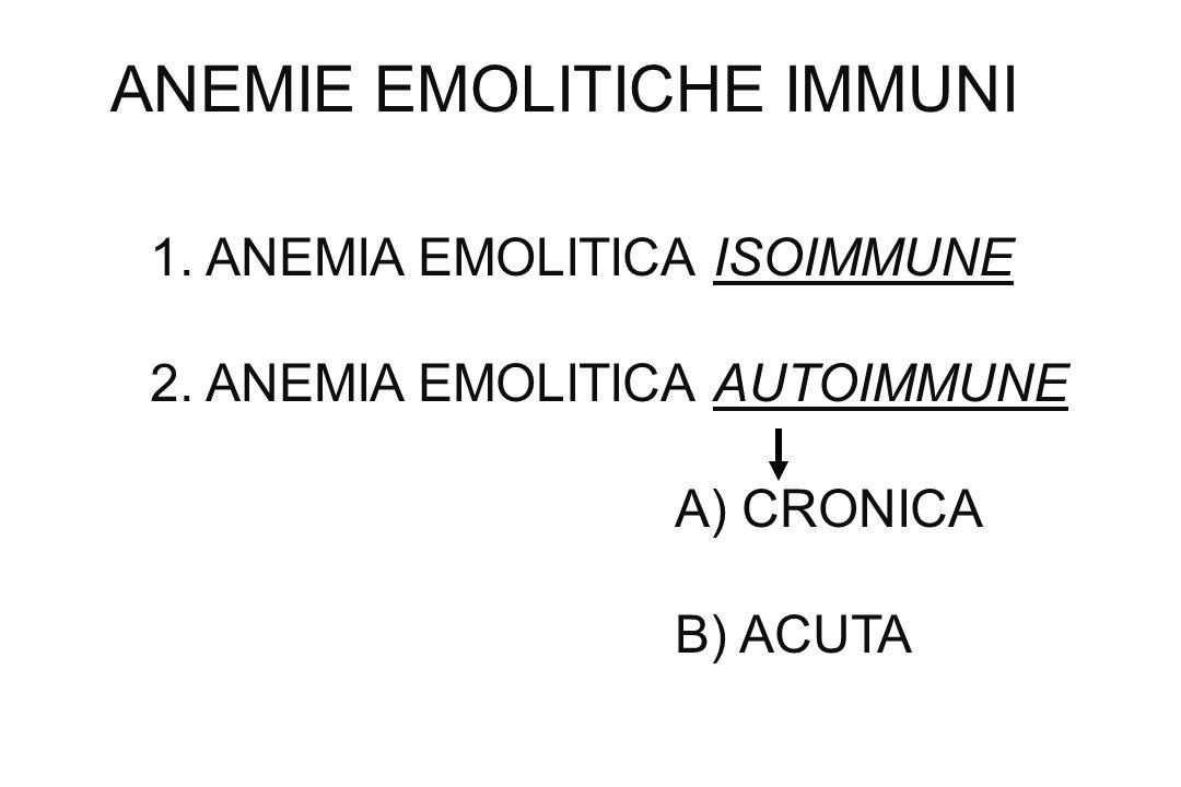 ANEMIE EMOLITICHE IMMUNI