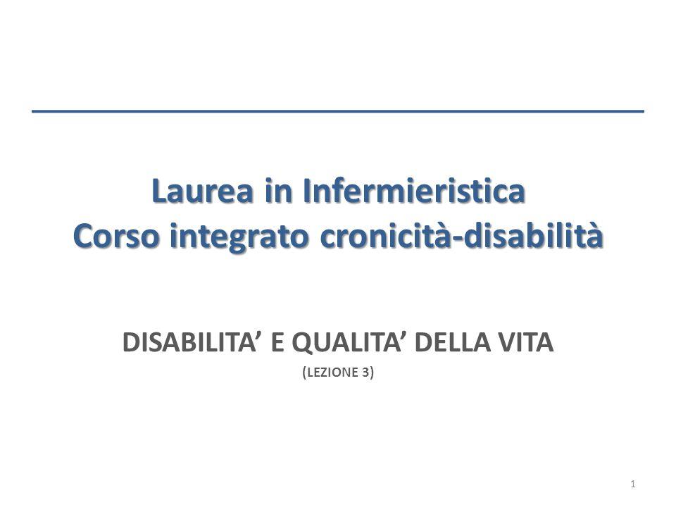Laurea in Infermieristica Corso integrato cronicità-disabilità