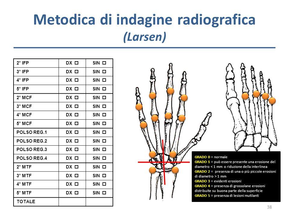 Metodica di indagine radiografica (Larsen)