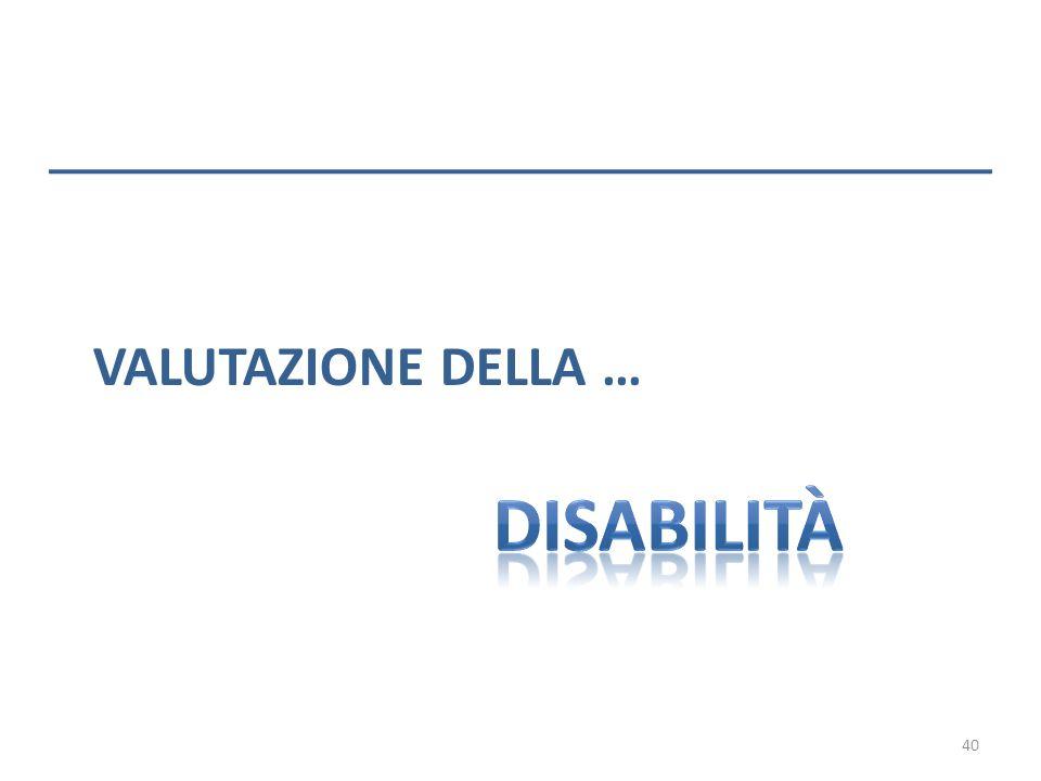 Valutazione della … disabilità