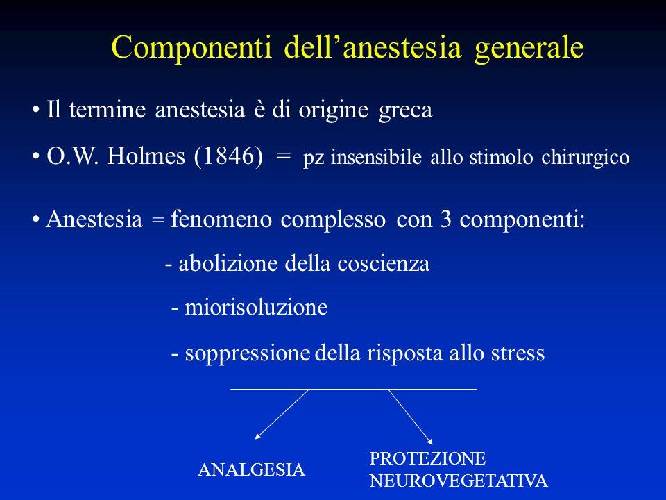 Componenti dell'anestesia generale
