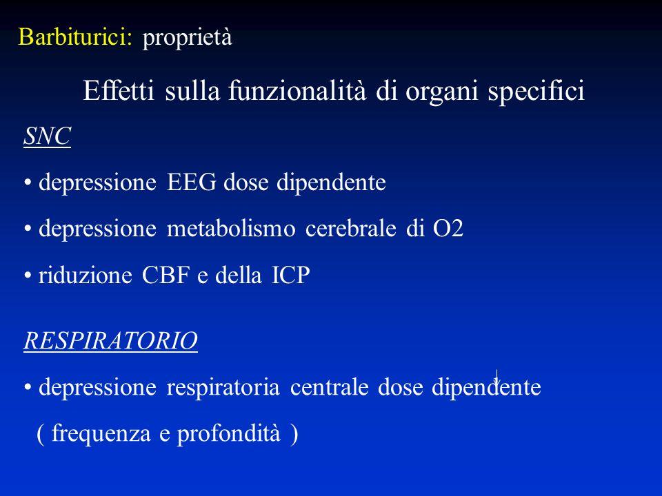 Effetti sulla funzionalità di organi specifici