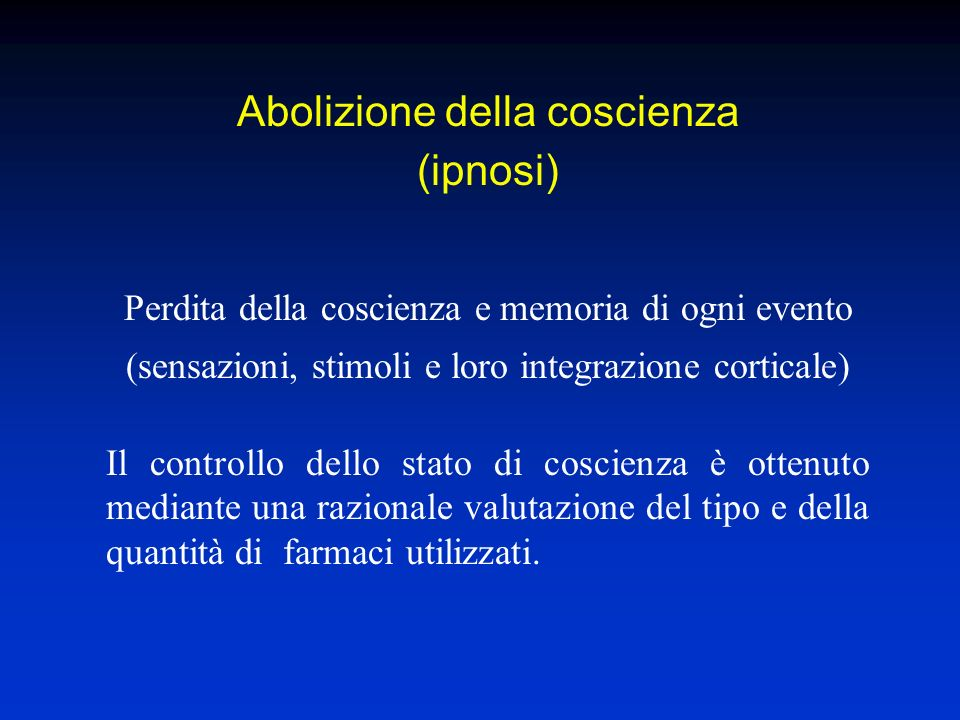 Abolizione della coscienza (ipnosi)