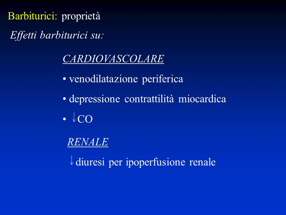 Barbiturici: proprietà