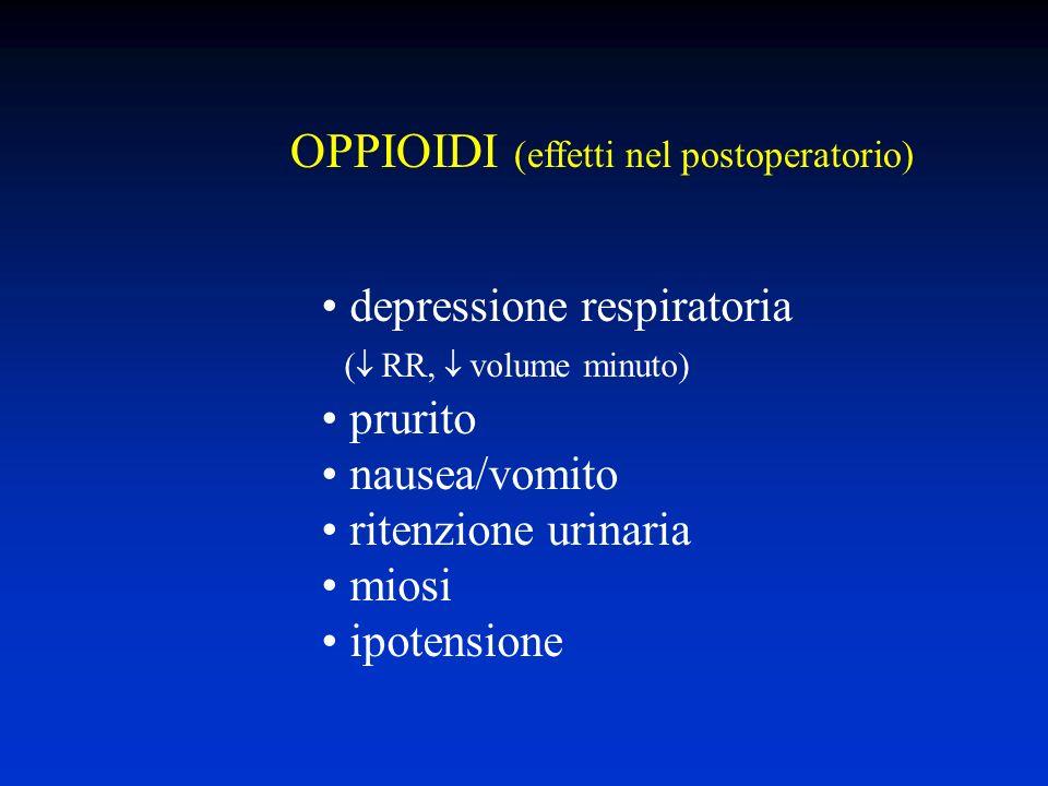 OPPIOIDI (effetti nel postoperatorio)