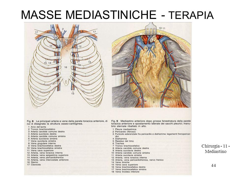 MASSE MEDIASTINICHE - TERAPIA