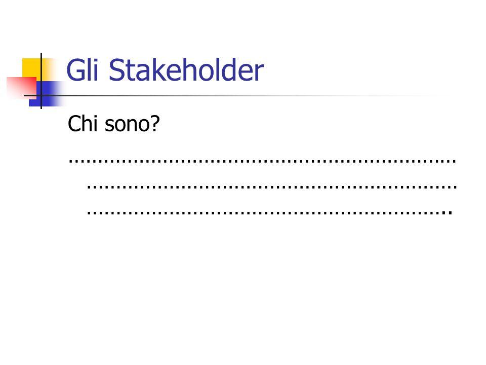 Gli Stakeholder Chi sono