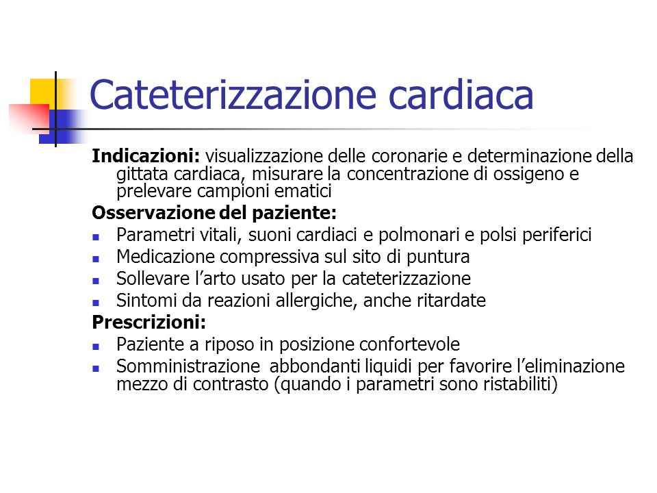 Cateterizzazione cardiaca