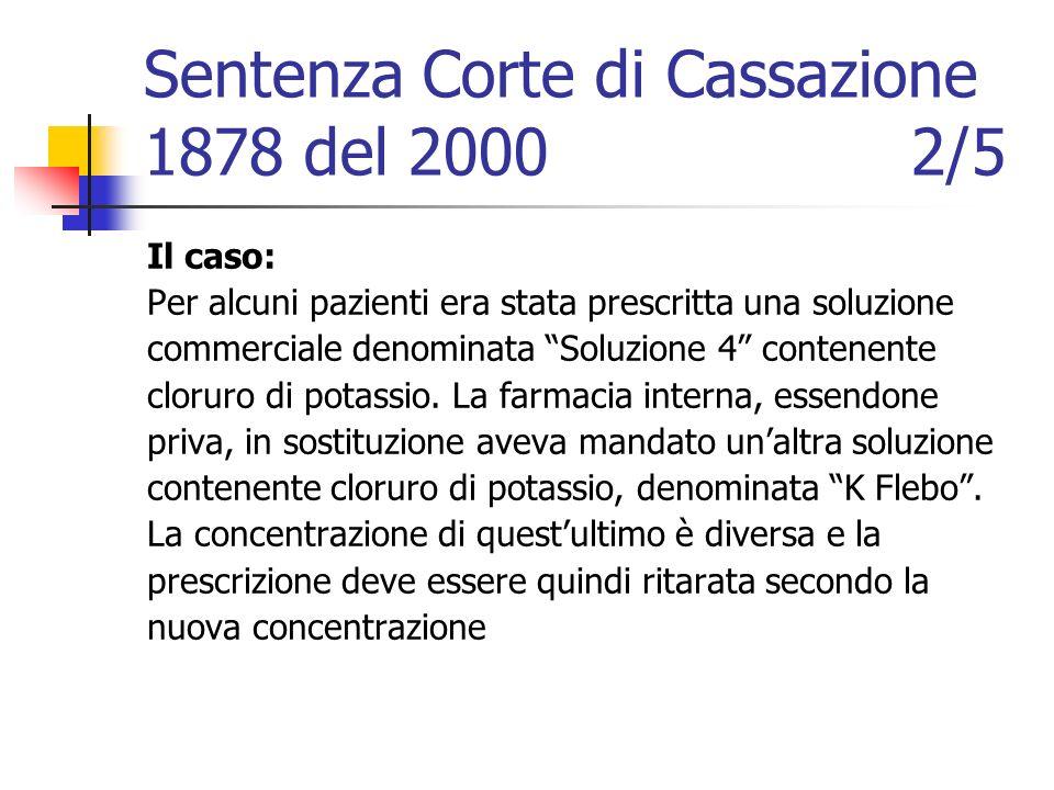 Sentenza Corte di Cassazione 1878 del 2000 2/5