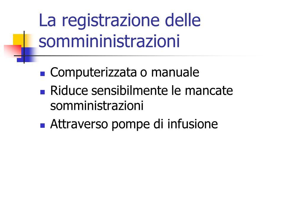 La registrazione delle sommininistrazioni