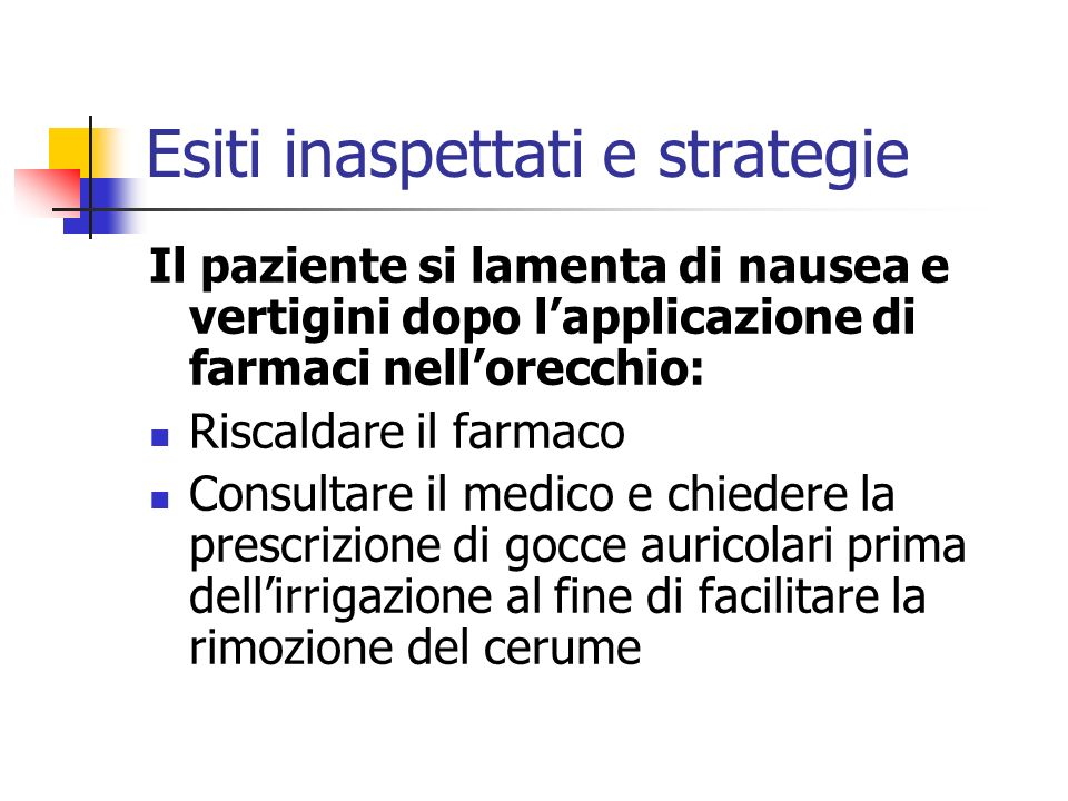 Esiti inaspettati e strategie