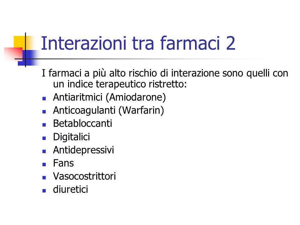 Interazioni tra farmaci 2