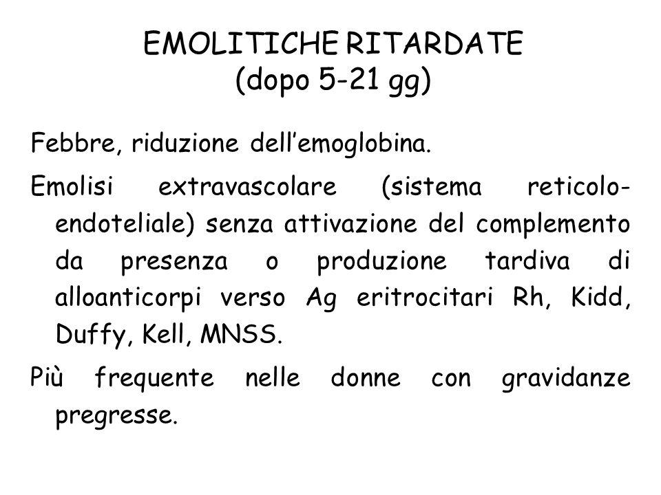 EMOLITICHE RITARDATE (dopo 5-21 gg)