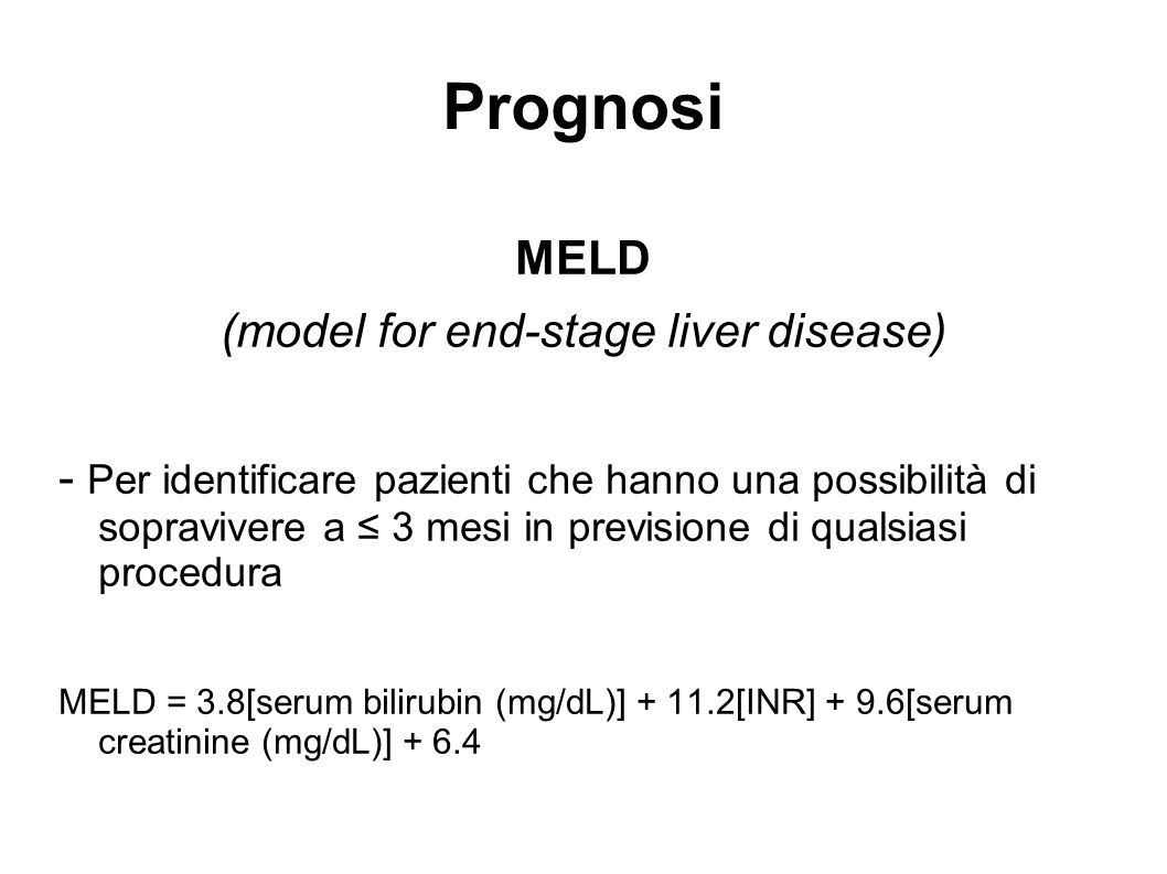 (model for end-stage liver disease)