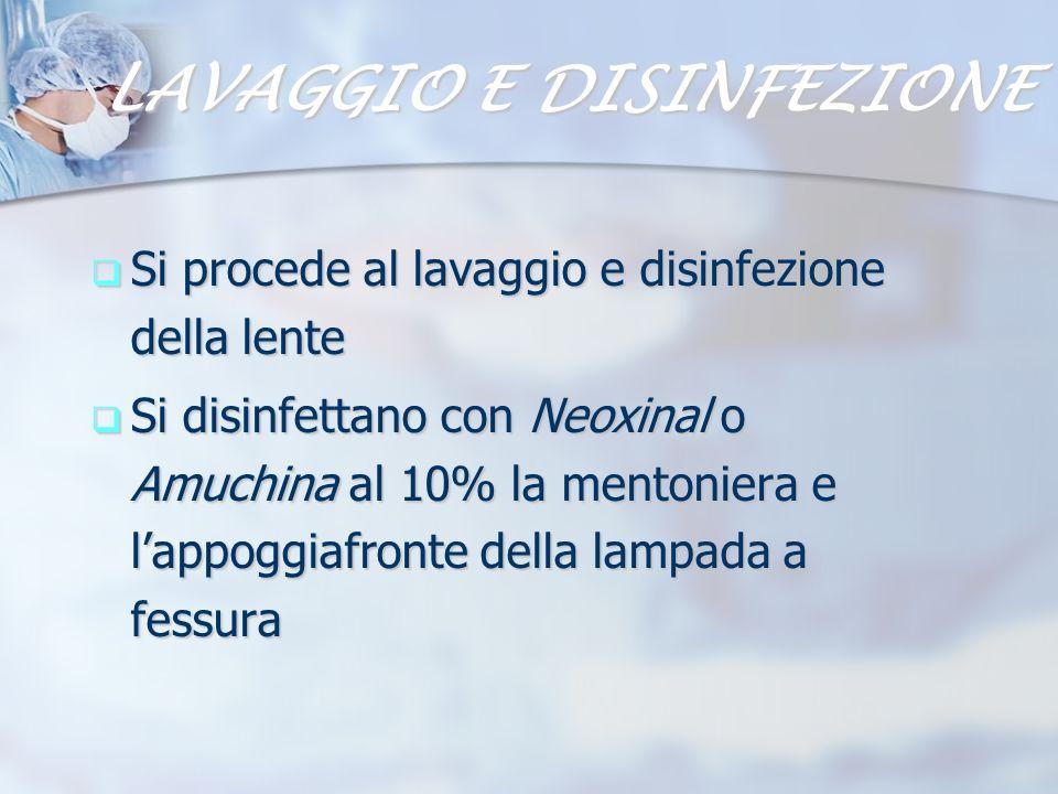 LAVAGGIO E DISINFEZIONE