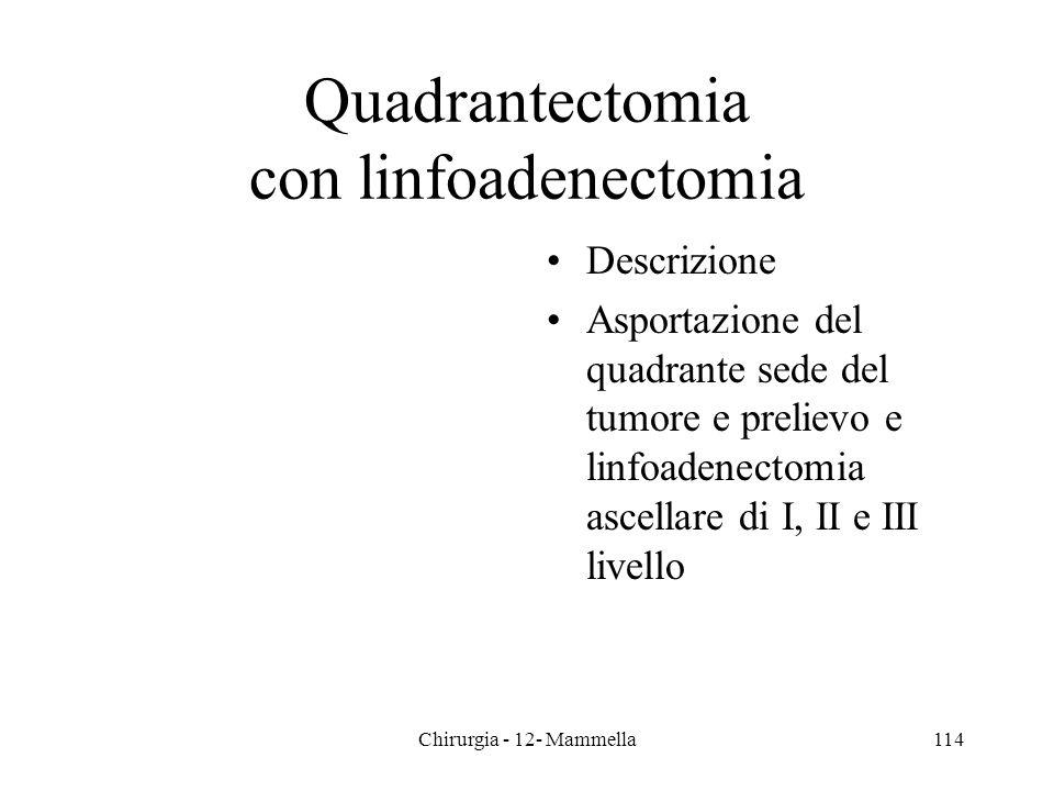 Quadrantectomia con linfoadenectomia