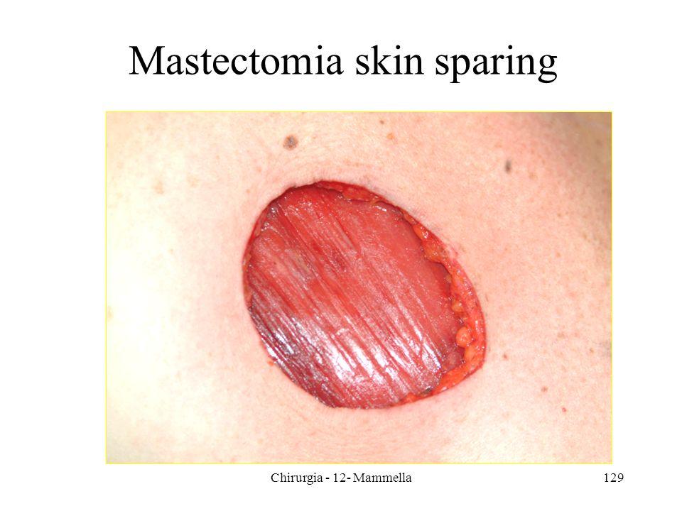 Mastectomia skin sparing