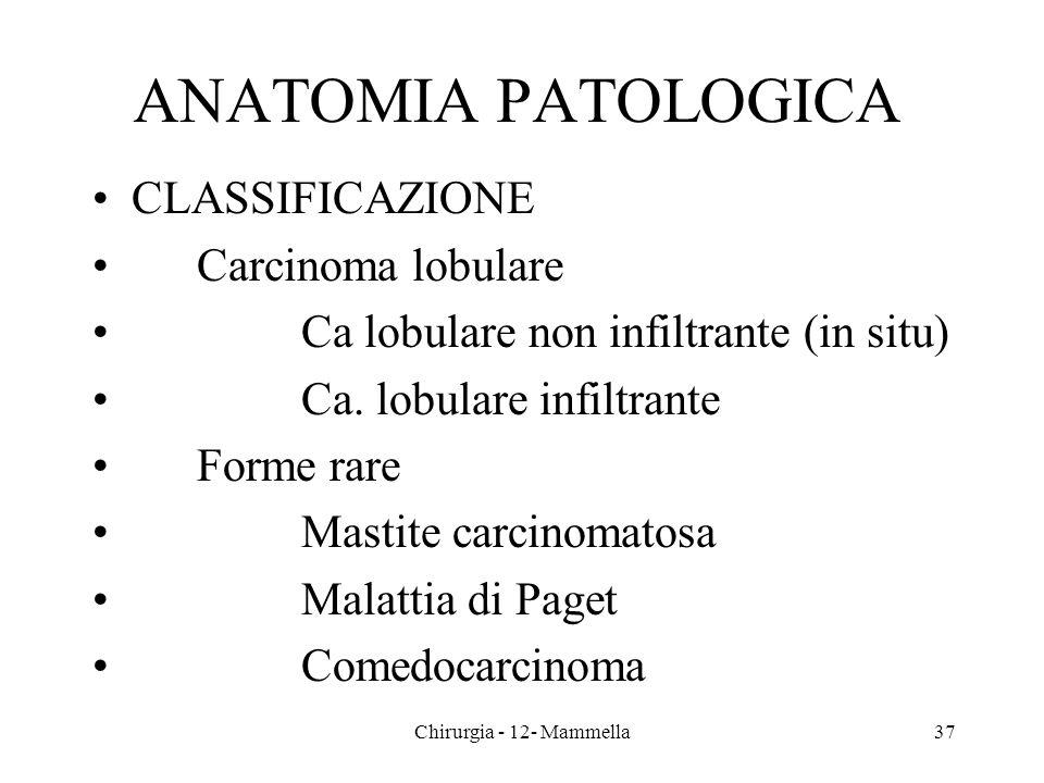 ANATOMIA PATOLOGICA CLASSIFICAZIONE Carcinoma lobulare