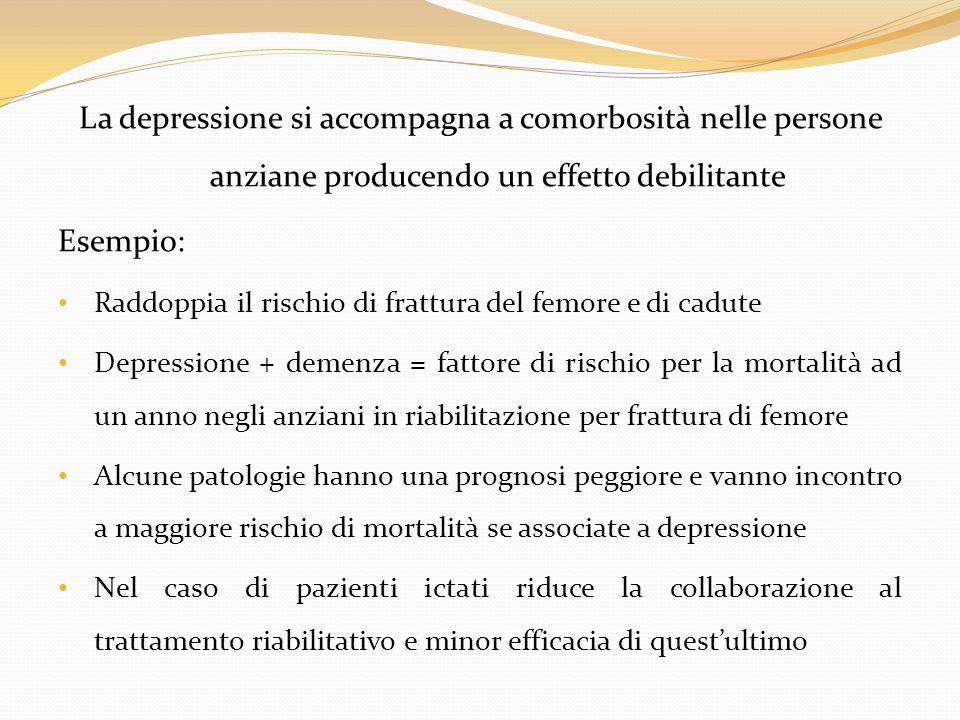 La depressione si accompagna a comorbosità nelle persone anziane producendo un effetto debilitante