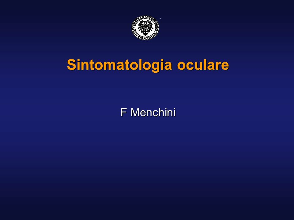 Sintomatologia oculare