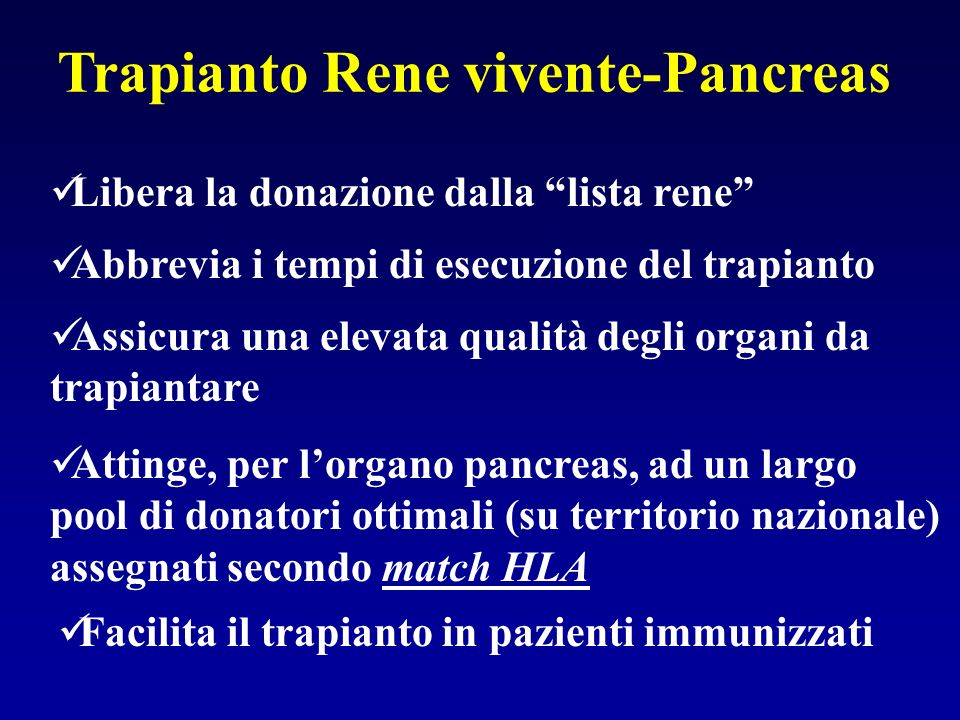 Trapianto Rene vivente-Pancreas