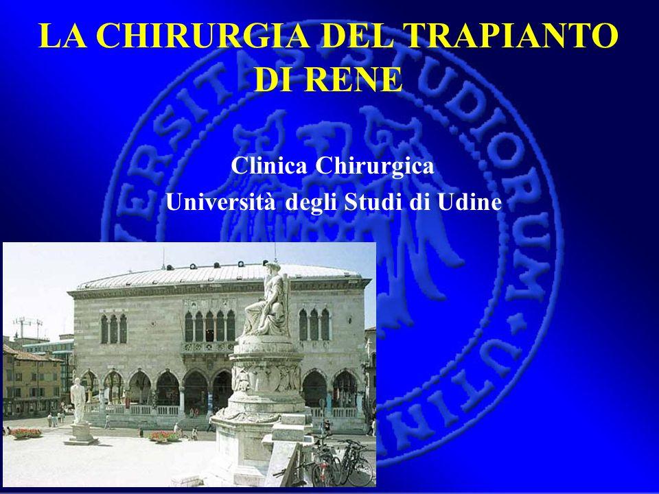 LA CHIRURGIA DEL TRAPIANTO DI RENE Università degli Studi di Udine