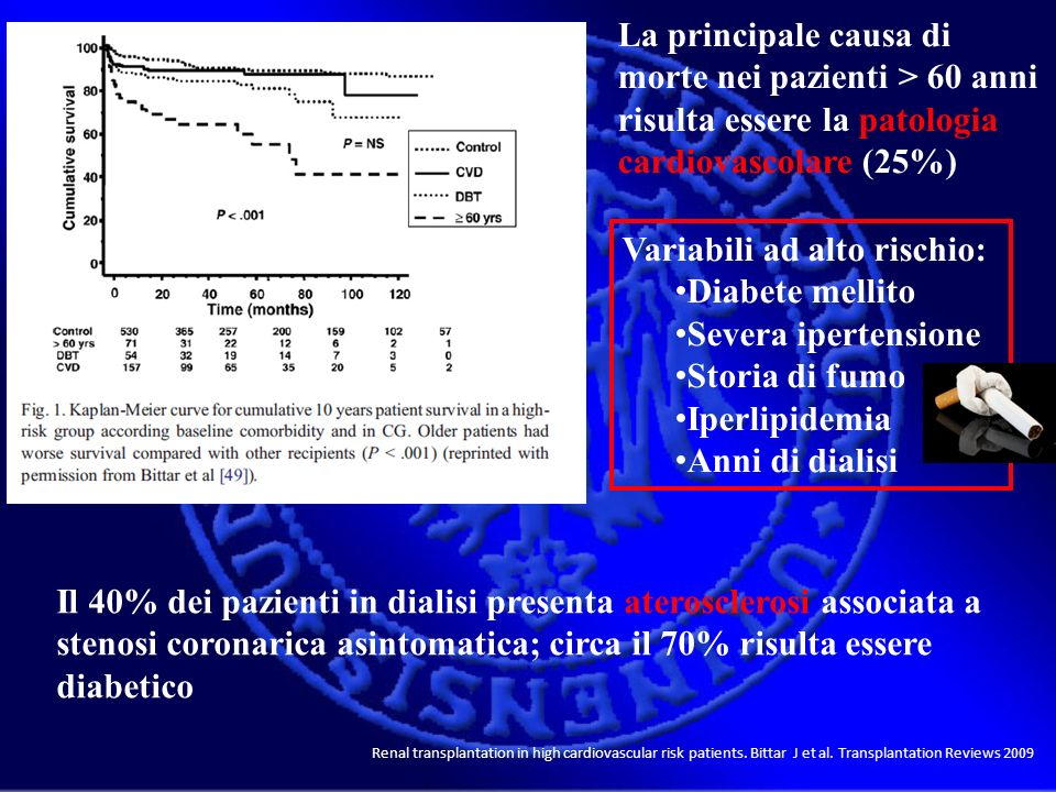 Variabili ad alto rischio: Diabete mellito Severa ipertensione