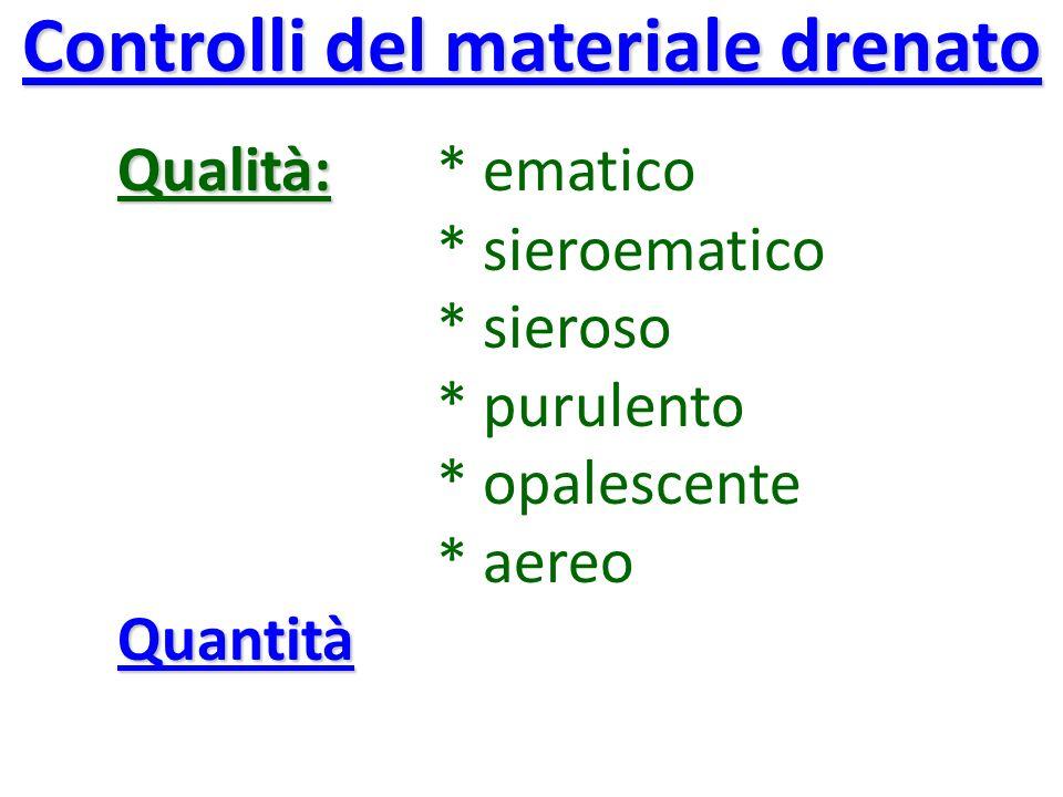 Controlli del materiale drenato