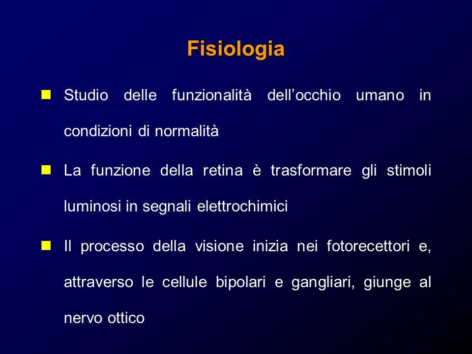 Fisiologia Studio delle funzionalità dell'occhio umano in condizioni di normalità.