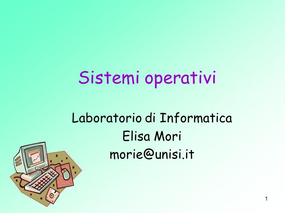 Laboratorio di Informatica Elisa Mori morie@unisi.it