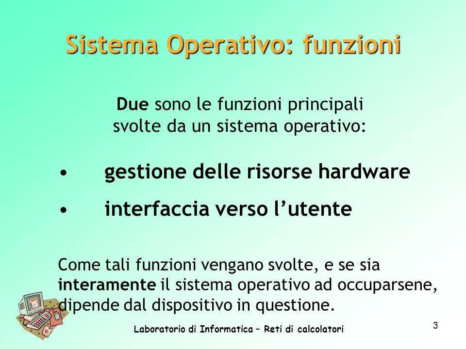 Sistema Operativo: funzioni