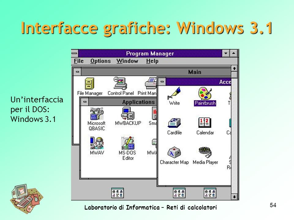 Interfacce grafiche: Windows 3.1