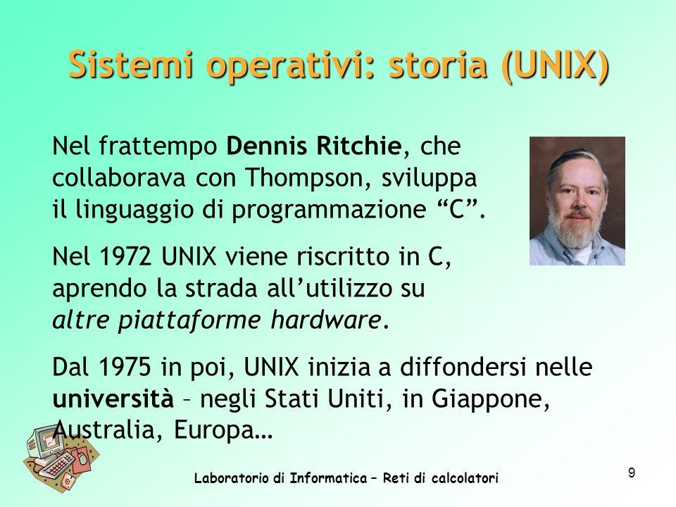 Sistemi operativi: storia (UNIX)