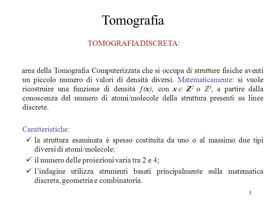 Tomografia TOMOGRAFIA DISCRETA: